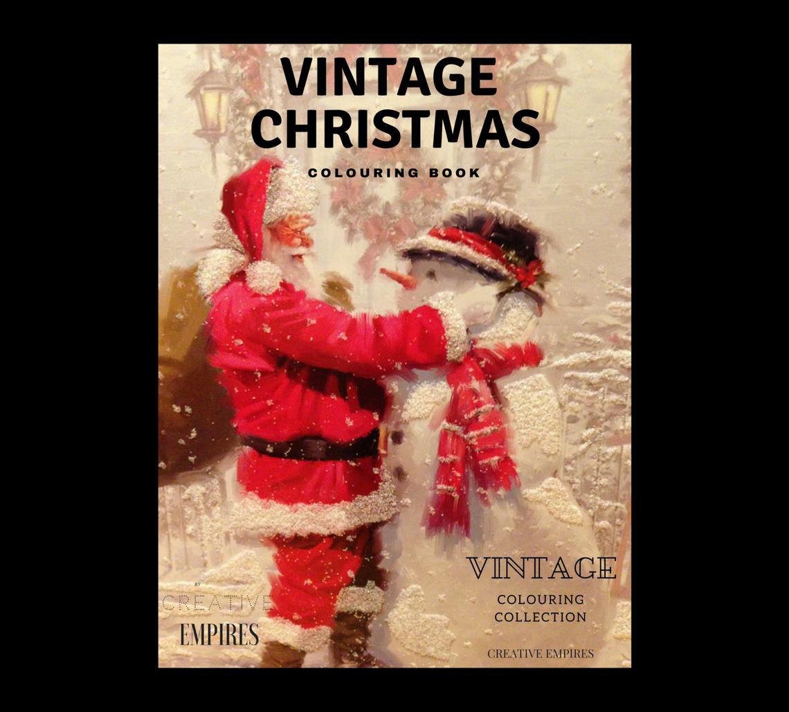 Vintage Christmas Colouring Book Colour Guide ebook